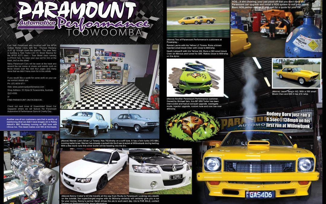 QLD STREET CAR MAG – PARAMOUNT FEATURE